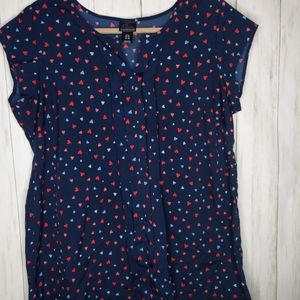 Maternity large heart top